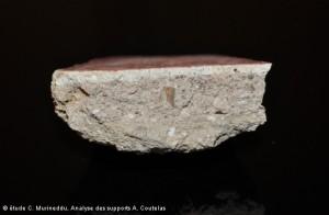 profil d'un enduit peint fragmentaire, Richebourg